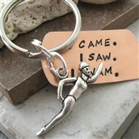 Swimmer's Key Chain, I Came, I Saw, I Swam