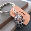 What the Puck? Hockey Key Chain with hockey mask charm