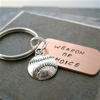 Baseball Keychain, Weapon of Choice,