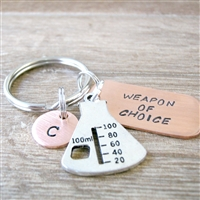 Beaker Key Chain, Weapon of Choice, Science Key Chain
