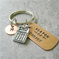 Accountant Key Chain, Weapon of Choice, Calculator