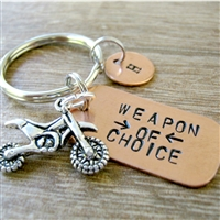 Dirt Bike Key Chain, Weapon of Choice