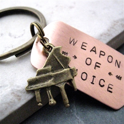 Piano Key Chain, Weapon of Choice, optional initial disc