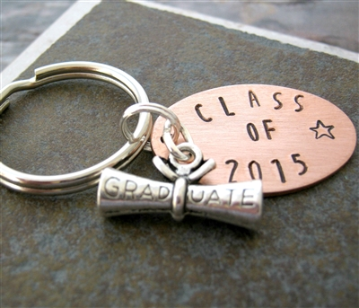 Class of 2016 Key Chain, Graduation Gift