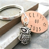 Class of 2017 Owl Key Chain, Graduation Gift