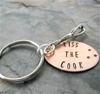 Kiss the Cook Key Chain with whisk charm