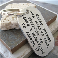 Friendship Keychain, Great Friends Quote