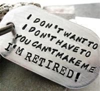 Retirement Key Chain