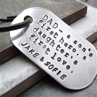Personalized Dad's Key Chain, a son's first hero, a daughter's first love