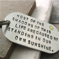 Emerson Quote Key Chain, Standing in Sunshine