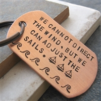 Sailing Key Chain, We Cannot Direct the Wind