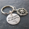 Latitude Longitude Key Chain with Compass