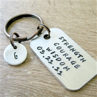 Strength Courage Wisdom Keychain