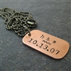 Tiny Personalized Anniversary Necklace
