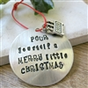 Beer Lover's Ornament, Beer Christmas Ornament, Pour Yourself a Merry Little Christmas