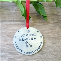Personalized Pet Memorial Ornament, Dog or Cat