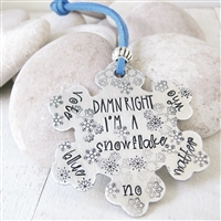 Damn Right I'm a Snowflake Ornament, Vote Blue No Matter Who, Democrat gift