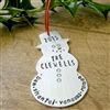 Personalized Snowman Christmas Ornament 2018