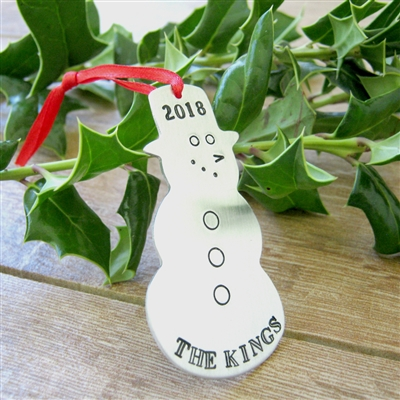 Personalized Family Snowman Ornament