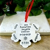 Personalized Poppop Ornament, Grandpa, Grandfather