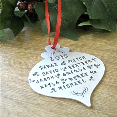 Personalized Large Family Christmas Ornament