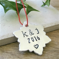 Personalized Couples Ornament, Snowflake