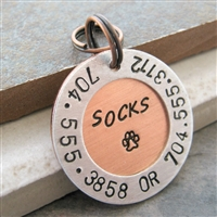 Personalized Pet ID Tag, holds 2 phones, 1 address