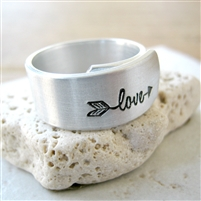 Love Arrow Wrap Ring, Self Love Ring