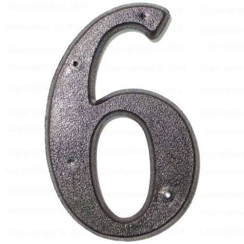 4 Plastic House Numbers