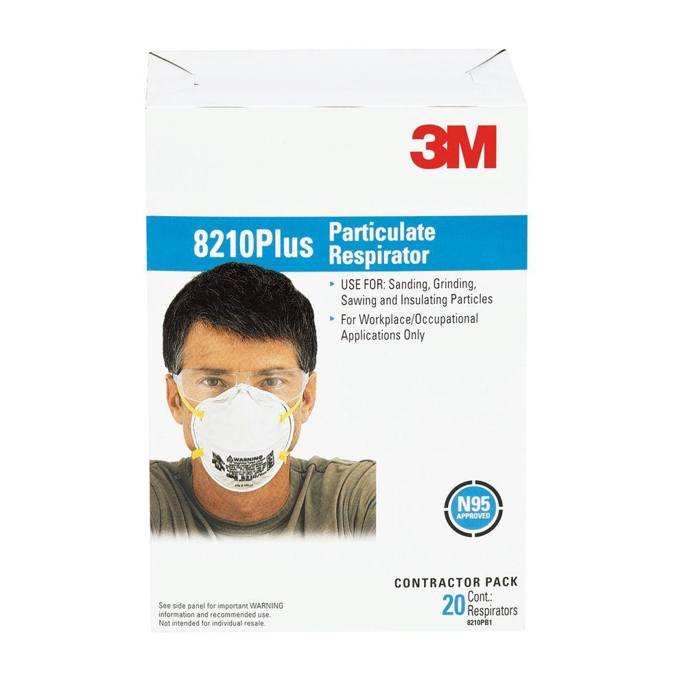 Particulate 8210plus Box Per 20 3m N95 Respirator