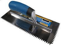 Troxell USA 1/4'' V Notch Stainless Steel Pro-Grade TrowelTroxell USA