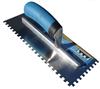 Troxell USA 1/4'' Square Notch Stainless Steel Pro-Grade Trowel