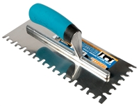 Troxell USAEuro Combo Notch Stainless Steel Pro-Grade Trowel