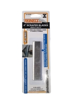 Troxell USA Heavy Duty 4'' Scraper Blades - 10 Pack