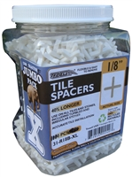 Troxell USA Long Leg 1/8'' Spacer - 1000 Pieces Per Jar