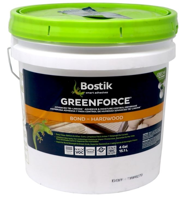 BOSTIK GREEN FORCE ADHESIVE WITH MOISTURE CONTROL - 4 GALLON