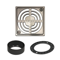 "SCHLUTER KERDI-DRAIN 4"" BRUSHED NICKEL GRATE"