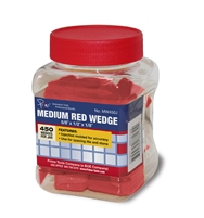 Large Red Wedges - 450 Pieces Per Jar