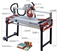 Raimondi Gladiator Advanced Wet Tile Saw 41""