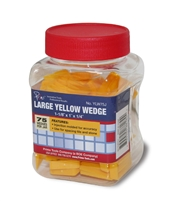 Primo Tools - Large Yellow Wedges - 75 Pieces Per Jar