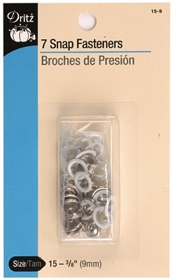 DRITZ D15-9 Snap Fasteners White