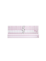 C-THRU B-95 by Westcott English-Metric Beveled Ruler, 18 Inch