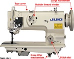 JUKI DNU-1541 1-needle, Unison-feed, Lockstitch Machine with Large Hook