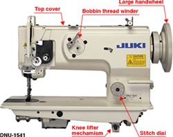 JUKI DNU-1541S 1-needle, Unison-feed, Lockstitch Machine with Large Hook with safety mechanism
