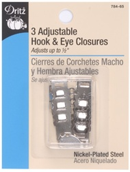 DRITZ D784-65 Adjustable Hook & Eye Closures