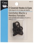 DRITZ D767-11 Covered Hooks & Eyes Brown