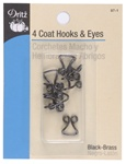 DRITZ D97-1 Coat Hooks & Eyes Black