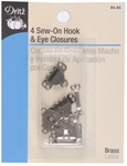 DRITZ D93-65 Sew-On Hook & Eye Closures Nickel