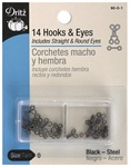 DRITZ D90- Hooks & Eyes Black