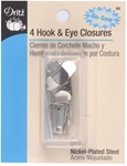 DRITZ D86 Hook & Eye Closures Nickel